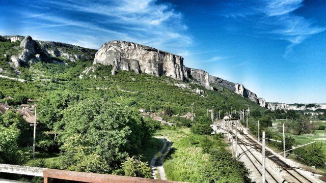 Panorama Bulgarien Prohodna Cave Fahrrad Fahren Radreisen