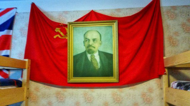Flagge in Lenin Hostel Transnistrien Tiraspol