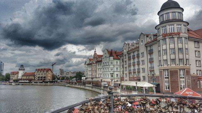 Kaliningrad Fischerdorf Fluss