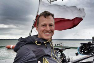 Polnische Flagge mit Tim