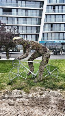 Radskulptur in Polen auf dem Eurovelo