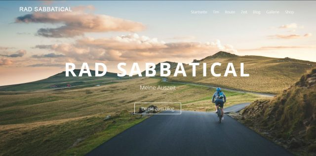 Wordpress Blog von Rad Sabbatical