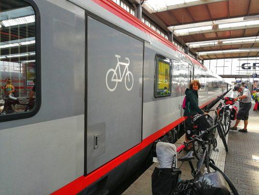 Zug Fahrradabteil München Bozen