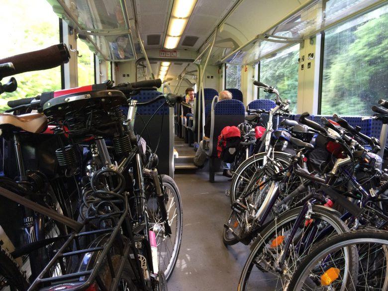 Zug Deutsche Bahn Radreisen Fahrrad